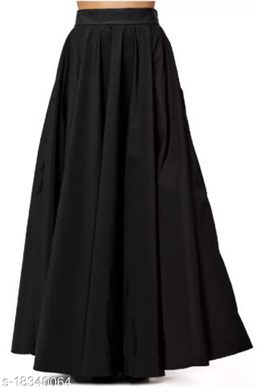 Tanvi Creations Women's Solid Rayon Flared Long Skirt from XS to 5XL (26 to 42inch Waist)
