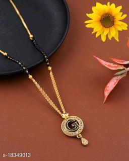 G Name Alphabet Latter mangalsutra for women jewellery