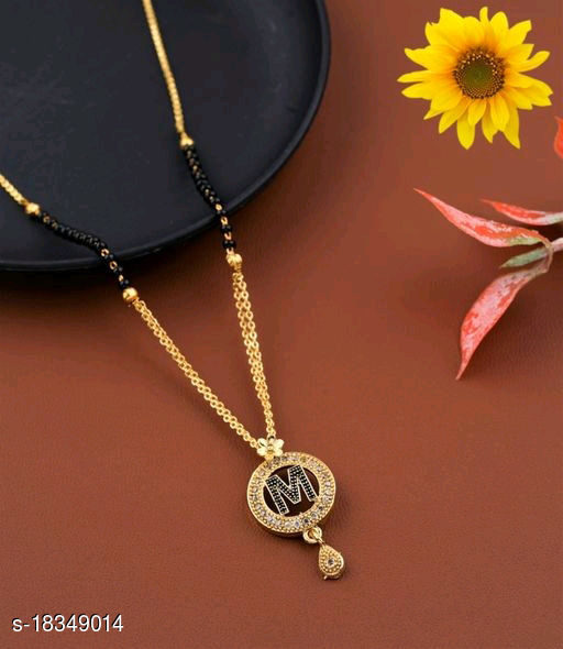 M Name Alphabet Latter mangalsutra for women jewellery