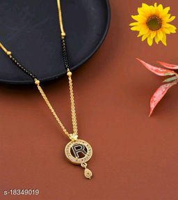 R Name Alphabet Latter mangalsutra for women jewellery