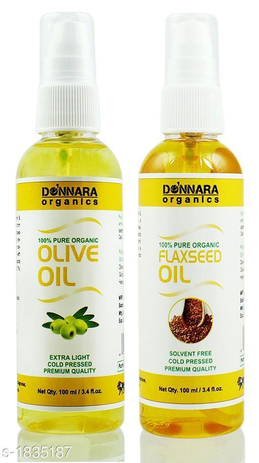 Donnara Organics Olive and Walnut Oil Combo Pack Of 2, 100 Ml(200 Ml)