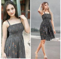 Western Style Smocking Dress