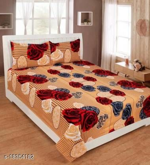 VIVEK ENTERPRISES  240 TC Poly Cotton Double Printed Bedsheet (90X90) Inches