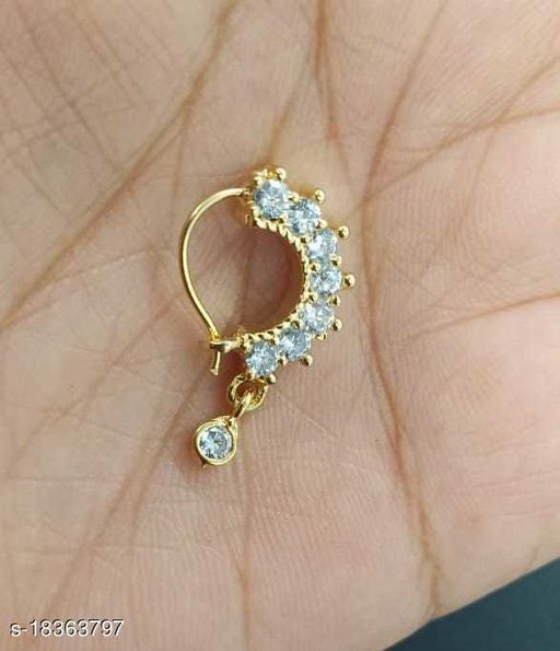 Trendy Gold Plated Nosepins
