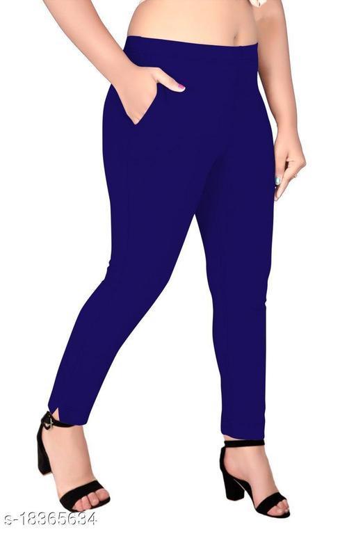 Trendy 4 Way Stretchable Cotton Lycra Kurti Pant (Cigarette Pant/Pencil Pant)…