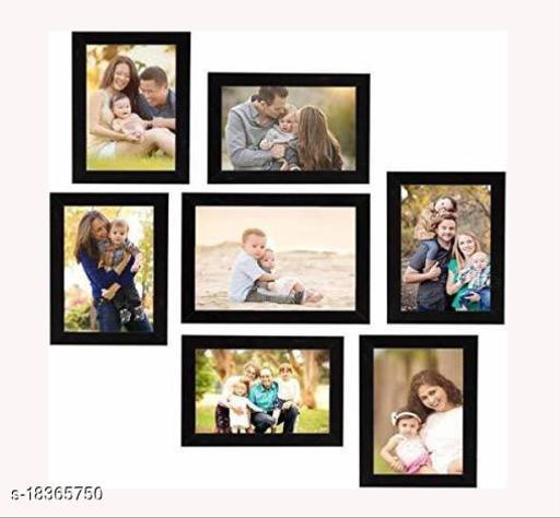 Photo Frames Black Printed Design