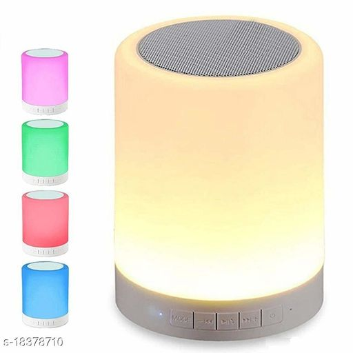 Brands Bucket LS99 Wireless Portable Bluetooth Speaker with Smart Touch LED Mood Lamp, Pen Drive, SD Card, AUX and Mic. Compatible with All Bluetooth Devices