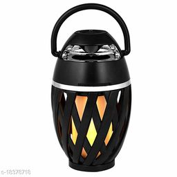 Brands Bucket LED Flame HD Atmosphere Torch Bluetooth 4.2 Portable Outdoor Speaker with Enhanced Bass, Flickers Warm Night Lights for Device /iPad/Android/Windows