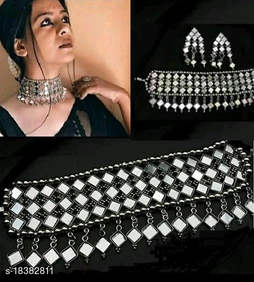 Samridhi Style Mirror Jewellery Set