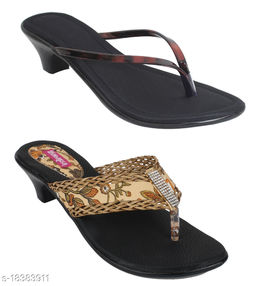 Indirang Pack of 2 Multicolor Synthetic Heels