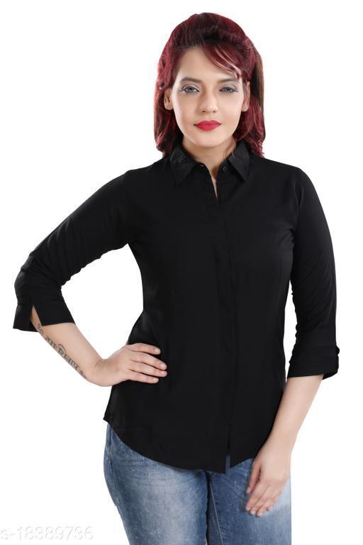 QUEEN SHIELD Women's Cotton Rayon 3/4th Sleeves Shirt