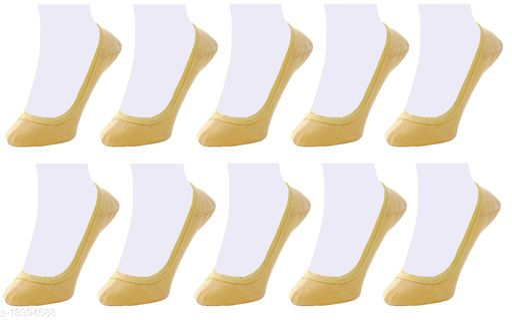 Neska Moda Women Plain Cotton Black 10 Pair Belly Low Cut Socks