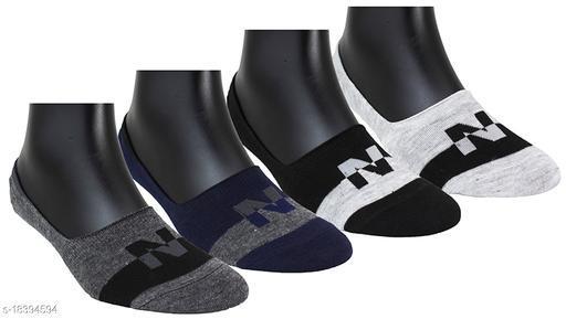 Neska Moda Women 4 Pairs Cotton Multicolor No Show Socks-S834