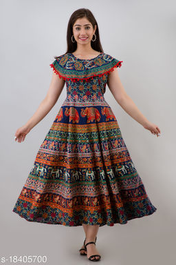Women Cotton Maxi Gown
