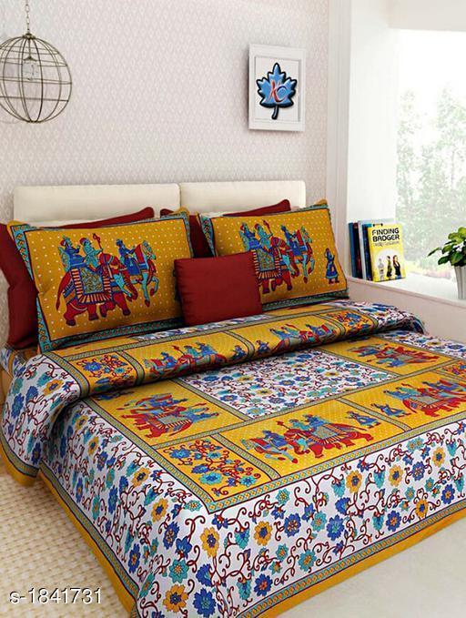 Comforstic Cotton Printed Double Bedsheet