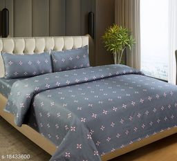 Gracefull Super soft King Size Double Bedsheet with 2 pillow covers