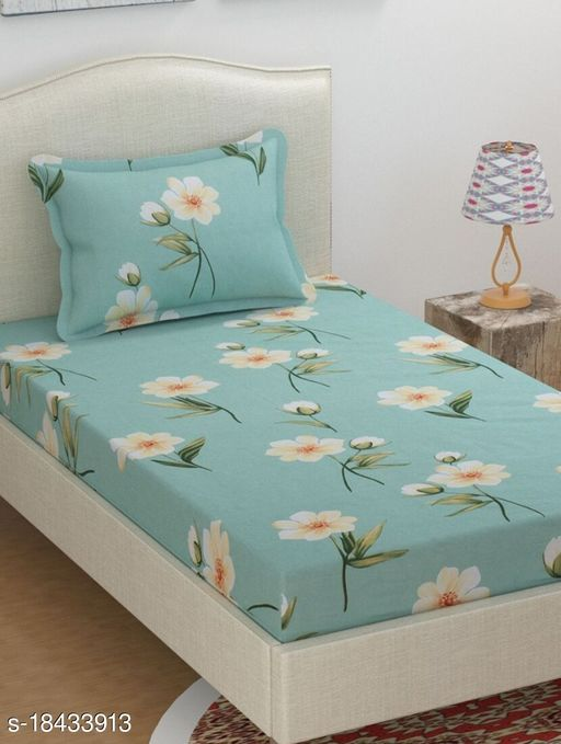 Gracefull Super soft Single Bedsheet with 1 pillow cover