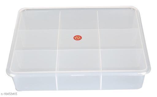 Plastic 9 Grids Multipurpose Storage Box (10 cm x 11 cm x 6 cm,)