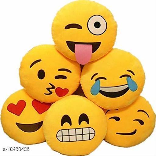 Sakhi Shine Soft Emoji Pillows Set Of 6