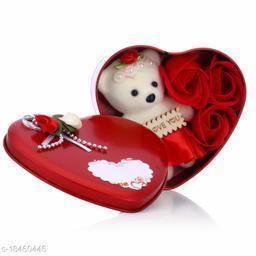 Sakhi Shine Gift Box Inside Carry Cute Teddy & Roses