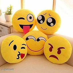 Sakhi Shine Soft Emoji Pillows Set Of 5