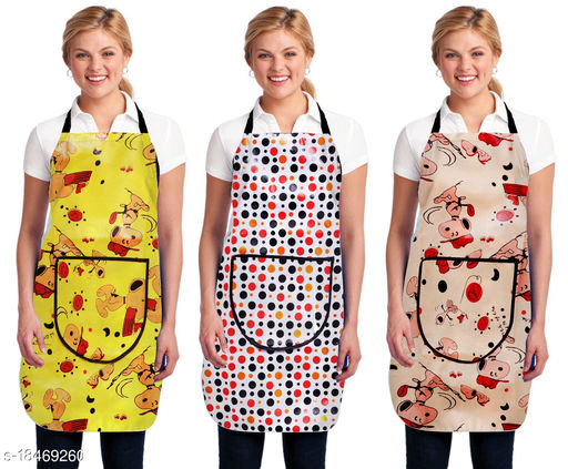 Kingly Home Kitchen Aprons Combo Pack Of 3