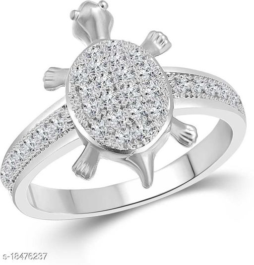 vighnes Fashion Jewellery  Tortoise Rhodium Plated  Ring For Men