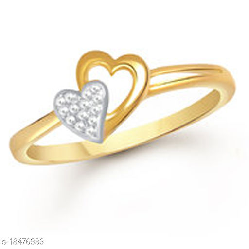 Vighnes Fashion Jewellery Heart Gold Plated  Ring For Women and Girls