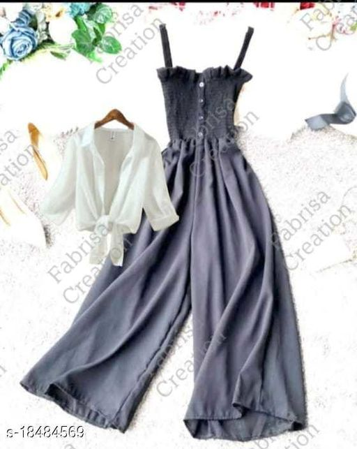 Western Style Jumpsuit with Shirt