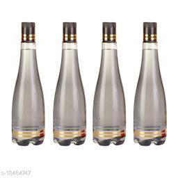 Saura Celebration Fridge Bottle 1000 ml Set of 4 Smoke Black