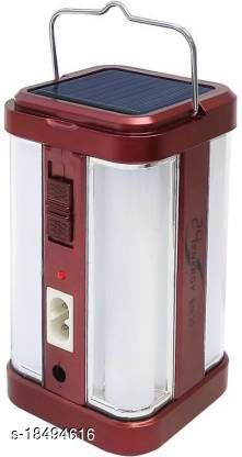 Stark Creations 4 Tube 360 Degree Extra Bright withA Charging Rechargeable Lantern Emergency Light(Red)