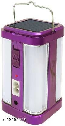 Stark Creations 4 Tube 360 Degree Extra Bright withA Charging Rechargeable Lantern Emergency Light(Purple)