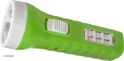 Stark Creations 24 ENERGY 7W Torch with 6 Led Emergency Light Rechargeable Torch Emergency Light(Green)