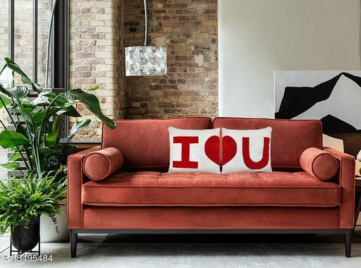 Nitsha High Quality Microfiber Romantic Love Valentines Day cushions pillows Pack of 2   (32 x 32 cm)