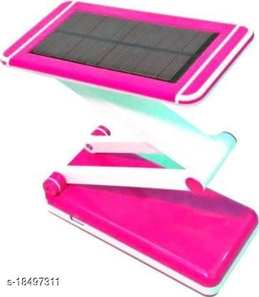 Stark Creations Rechargeable LED Lamp With Attached Solar Panel Desk Lamps Study Lamp + USB Mobile Charging Night Lamp Table Lamp(47 cm, Pink)