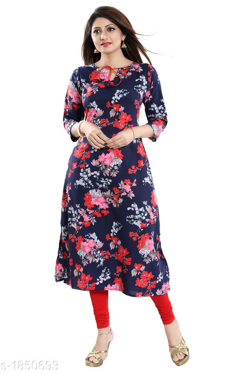 ALC Creation Women Floral Printed Polyester Kurti