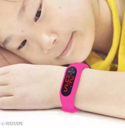 led pink kids watch