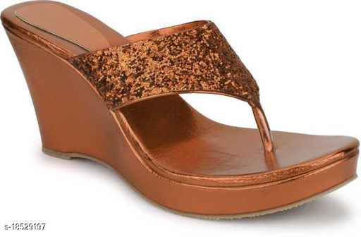 Brands Bucket Latest Collection Fancy Wedges Sandal for Women Brown…
