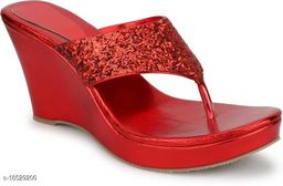 Brands Bucket Latest Collection Fancy Wedges Sandal for Women Red…