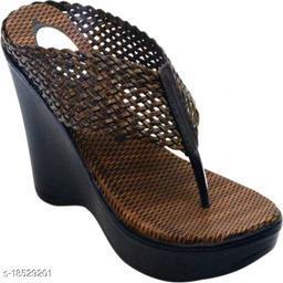 Brands Bucket Fashion Women's Brown Wedges Sandal Casual Wear Heel Sandal…
