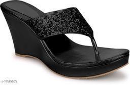 Brands Bucket Latest Collection Fancy Wedges Sandal for Women Black…
