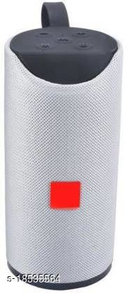 Genuine TG-113 Mini Bluetooth Portable Home Speaker Compatible with TV, USB, TF Card and AUX 15 W Bluetooth Speaker  (Grey, Stereo Channel)SPKR-TG113-GREY