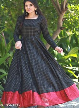 Mesmeric Black Colored Designer Partywear Silk Jacquard Gown