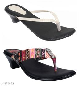 Indirang Pack of 2 Multicolor Synthetic Footwear