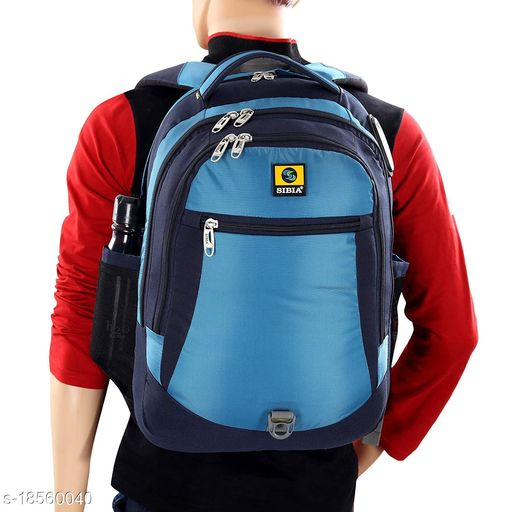 SIBIA Laptop Backpack with Stylish Pattern for Men and Women/Classy Backpack/for College Students/Travel Backpack(Blue)[(CB3-00003NB-TB)]
