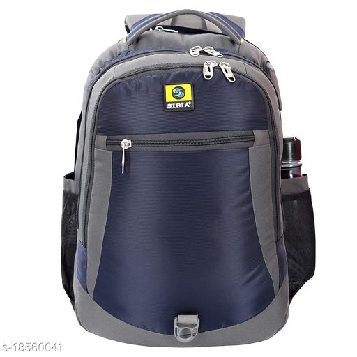 SIBIA Laptop Backpack with Stylish Pattern for Men and Women/Classy Backpack/for College Students/Travel Backpack(Navy Blue)[(CB3-00003NB-BR)]