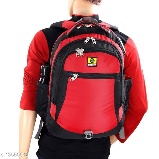 SIBIA Laptop Backpack with Stylish Pattern for Men and Women/Classy Backpack/for College Students/Travel Backpack(Red)[(CB3-00003R-B)]