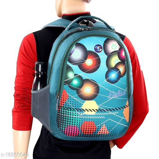 SIBIA Stylish Polyester Laptop Backpack for Travelling/Colleges/for Both Men and Women (Blue)[(CB7-00007PC)]