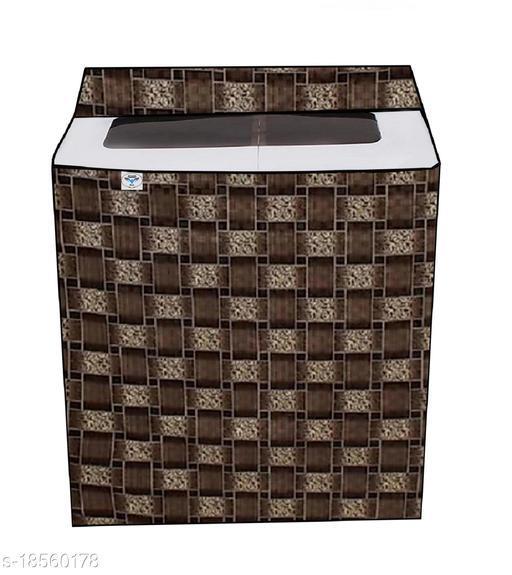 Great FashionPrinted Washing Machine Cover for Semi automatic 9.5-kg (Multicolour, Brown, Yellow) Design gf56dfh58