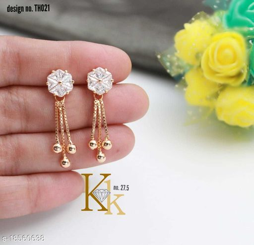 Modern trendy American AD earring for girls and ladies for gift